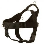 Doberman Harness Nylon with Patches