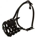 Walking and Training Leather Cage Doberman Muzzle