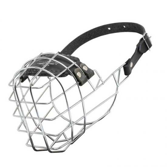 'The Silencer' Wire Cage Doberman Muzzle With One Strap