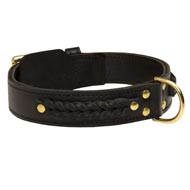 Incredible Design Doberman Braided Leather Collar