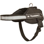 Nylon Doberman Harness with Reflective Strap for Training, Walking, Police Service, SAR and More