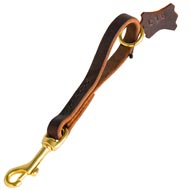 Easy Quick Grab Pull Tab Fully Leather Doberman Leash