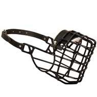 Frost-Resistant Wire Cage Doberman Muzzle with One Adjustable Strap