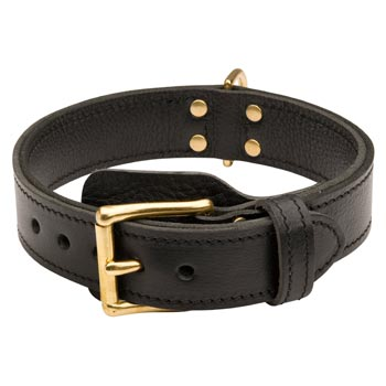 Doberman  Leather Collar with Easy in Use Buckle