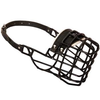 Winter Air Flow Metal Rubber Processed Doberman  Muzzle
