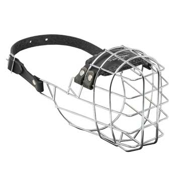 Wire Cage Doberman Muzzle for Barking and Drinking