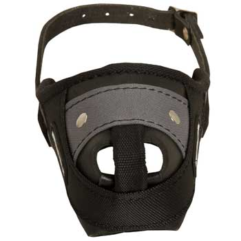 Nylon and Leather Doberman Muzzle with Steel Bar for Protection Training